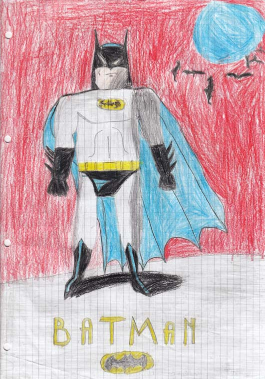 Batman kids drawing