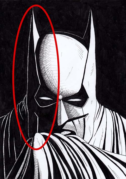 Batman drawing mistake