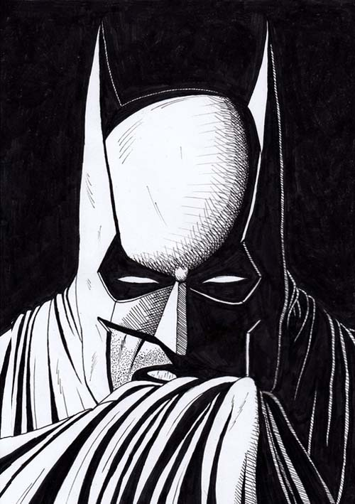 fixed Batman drawing