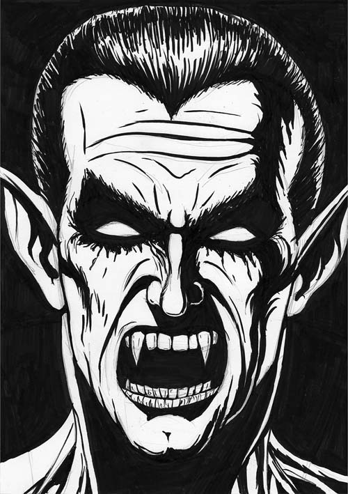 Dracula drawing mirrored