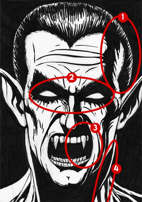 Dracula drawing mistakes