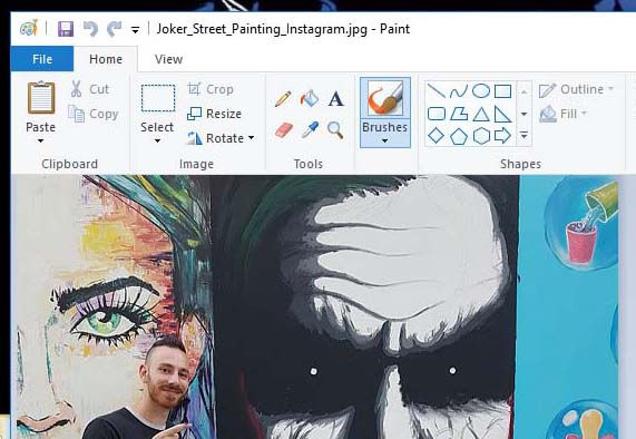 an image in Microsoft Paint