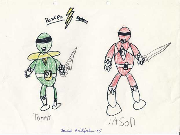 Power Rangers kids drawing