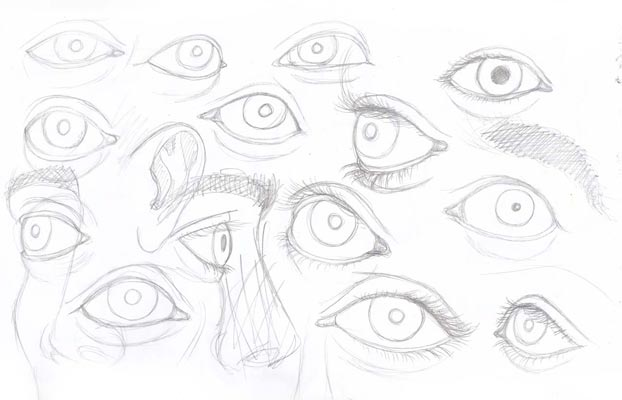 practice eye drawings
