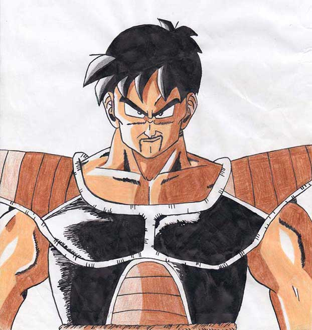saiyan character drawing