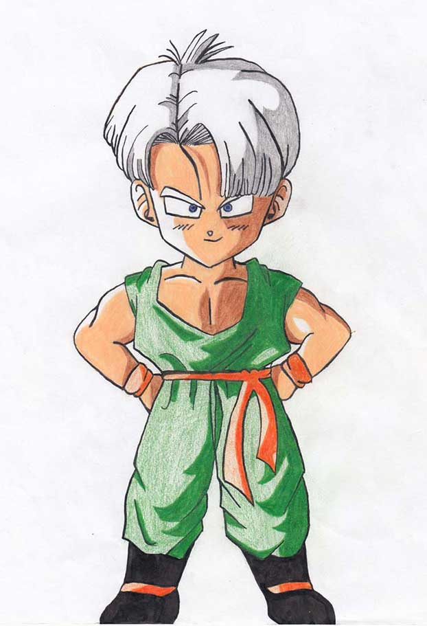 Trunks drawing colored pencils