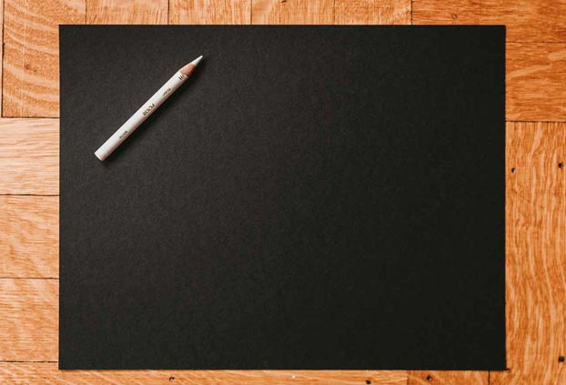 blank sheet of black paper