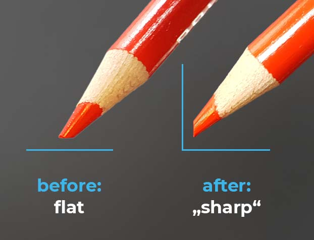 effect of turning a pencil
