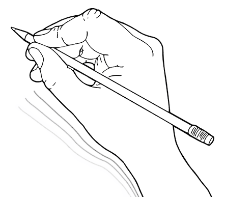 drawing of a drawing hand
