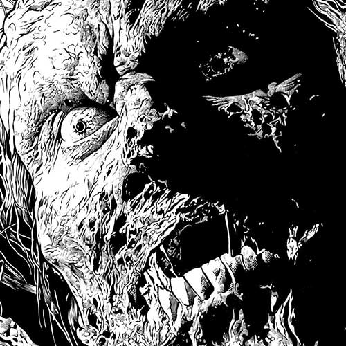 zombie drawing by marc w richards