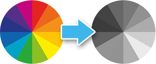 color wheel desaturated