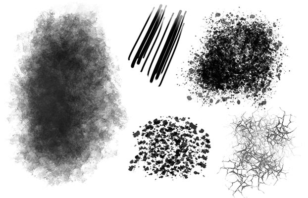 custom brushes with texture