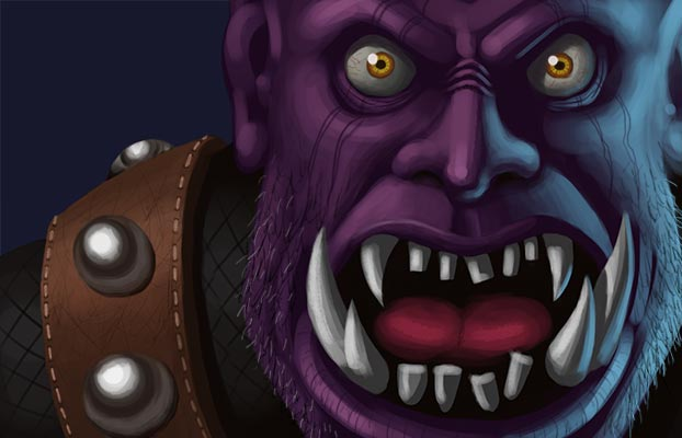 orc digital painting