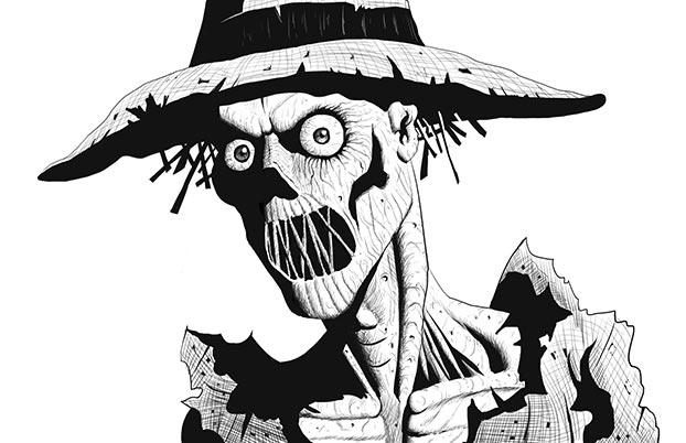 scarecrow drawing pen and ink