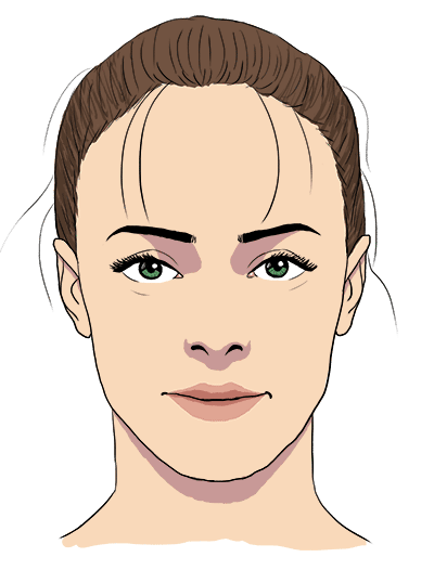 face shadows drawing, butterfly lighting