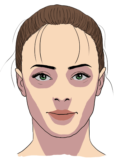face shadows drawing, butterfly lighting with long shadows