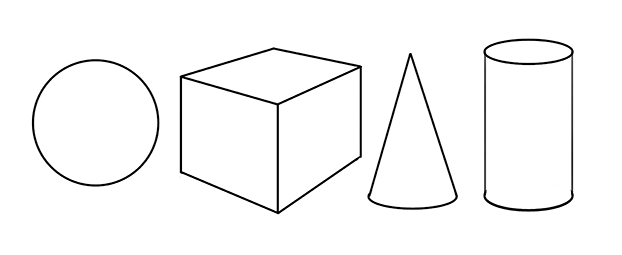 drawing of simple geometrical forms