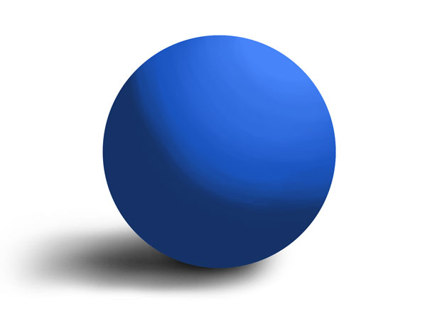 a shaded blue sphere