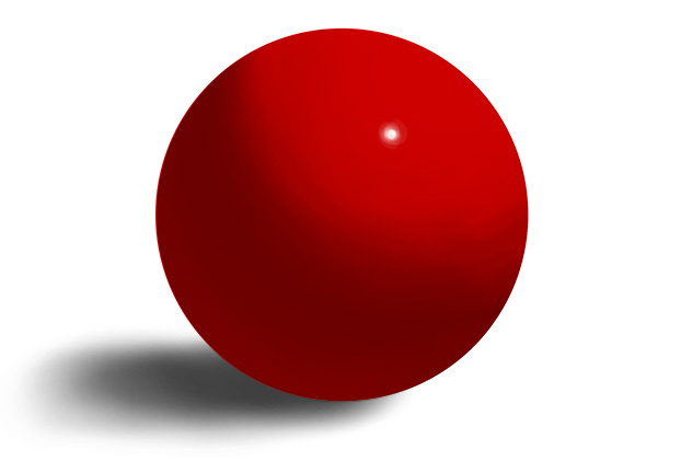 painting of a red ball