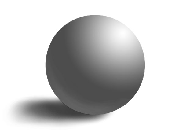 a sphere shaded with linear midtones